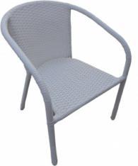 Бял ратанов стол